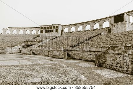 March 11, 2019:  Roman Amphitheater In Macau, China Is An Outdoor Colosseum Equipped With 2,000 Seat