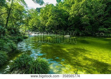 Mossman Gorge, AUSTRALIA - 15 APRIL 2017: Mossman Gorge - river in Daintree National Park, north Queensland, Australia