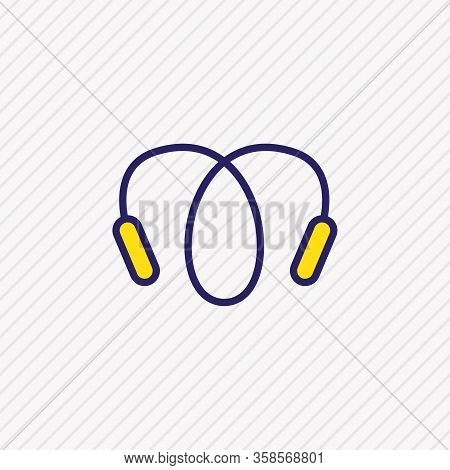 Illustration Of Jumping Rope Icon Colored Line. Beautiful Hobby Element Also Can Be Used As Skipping