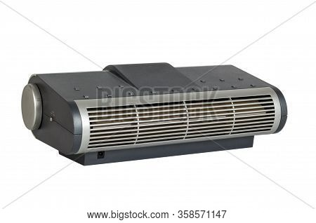 Electronic Air Purifier Appliance With Ionizer And Fan. Isolated On White Background.
