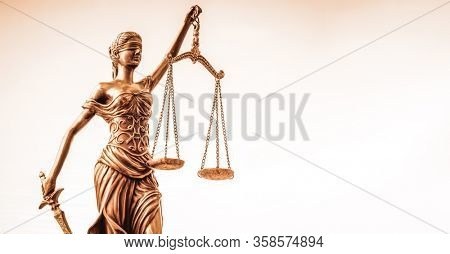 Scales of Justice, legal law concept image.