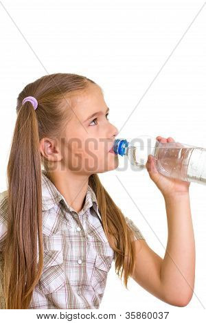 Girl with a water .