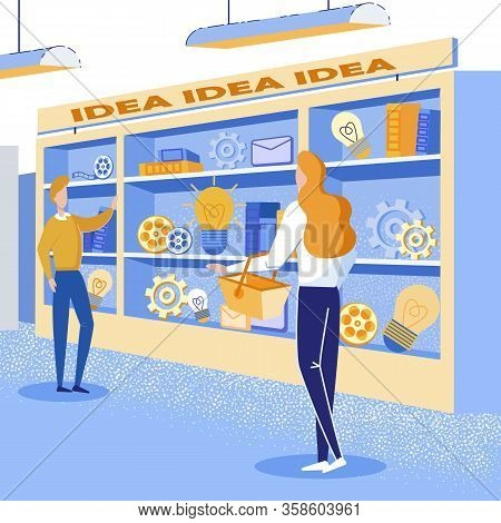 Informational Banner Store Selling Successful Idea. People Combine Ideas That Are Not Related To Eac