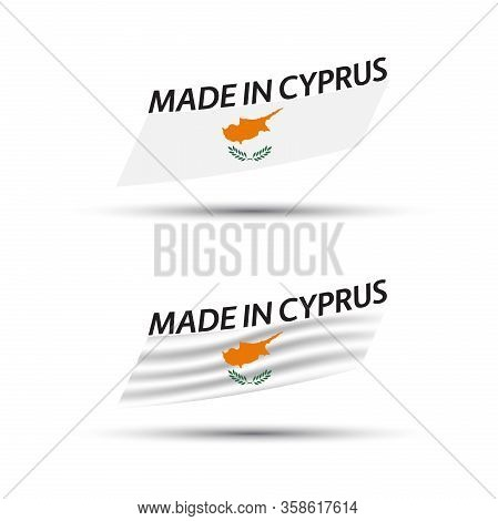 Two Modern Colored Vector Cyprus Flags Isolated On White Background, Flags Of Cyprus, Cypriot Ribbon