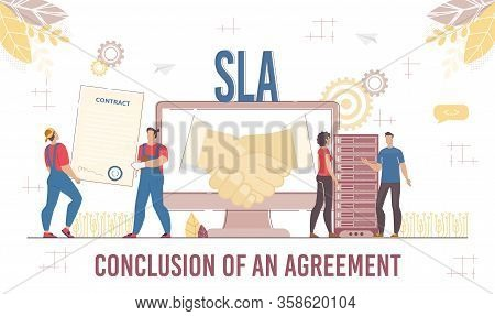 Successful Business Solution And Agreement Level. Deal Conclusion, Cooperation Development Through M
