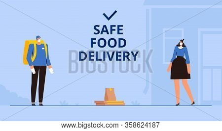 Safe Food Delivery. Remote Contactless Transfer Of The Order Under Quarantine And Isolation Due To T