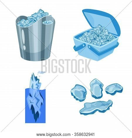 Vector Illustration Of Frost And Water Symbol. Collection Of Frost And Wet Vector Icon For Stock.