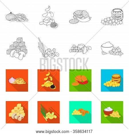 Isolated Object Of Taste And Seasonin Logo. Collection Of Taste And Organic Stock Symbol For Web.