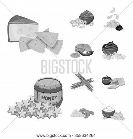 Vector Illustration Of Taste And Cooking Logo. Collection Of Taste And Seasonin Stock Symbol For Web