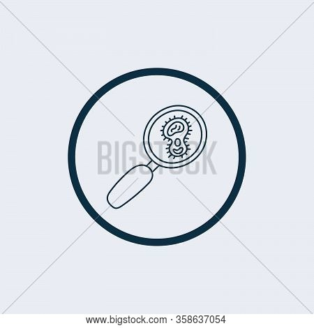 Virus Search Icon Isolated On White Background. Virus Search Icon Simple Sign. Virus Search Icon Tre