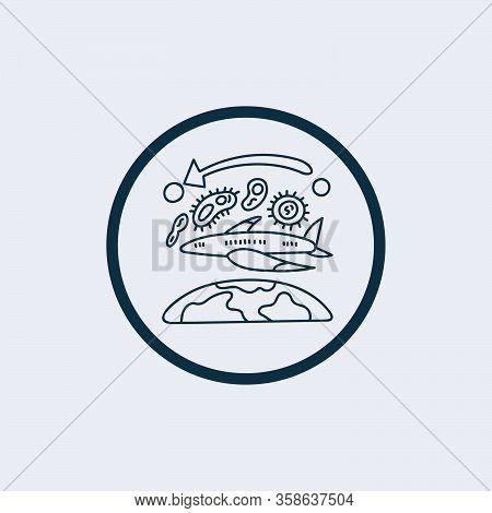 Vector Icon Of Novel Virus 2019-ncov, The Wuhan Coronavirus Isolated On White Background. Illustrati