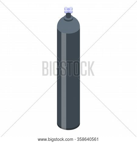 Gas Cylinder Storage Icon. Isometric Of Gas Cylinder Storage Vector Icon For Web Design Isolated On