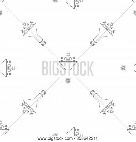 Sales Funnel Icon Pattern Web Line Design Vector Eps 10