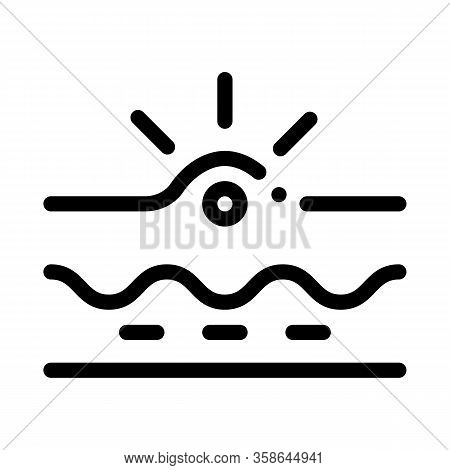 Appearance Of Acne Icon Vector. Appearance Of Acne Sign. Isolated Contour Symbol Illustration