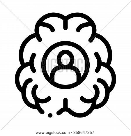 Human Brainstorming Icon Vector. Human Brainstorming Sign. Isolated Contour Symbol Illustration