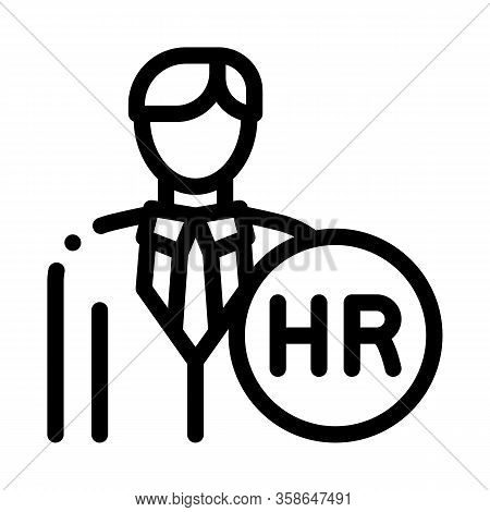 Human Resource Icon Vector. Human Resource Sign. Isolated Contour Symbol Illustration