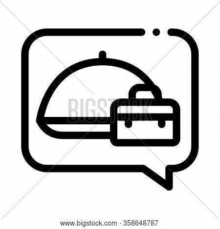 Business Lunch Icon Vector. Business Lunch Sign. Isolated Contour Symbol Illustration