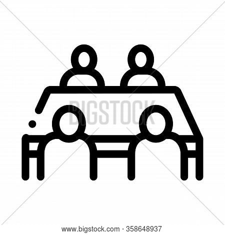 Negotiation Table Icon Vector. Negotiation Table Sign. Isolated Contour Symbol Illustration