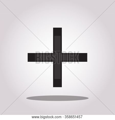 Plus Icon Vector Sign Isolated On White Background. Plus Symbol Template Color Editable. Vector Illu