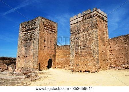 View Of The Moorish Castle Towers, Alcala De Guadaira, Seville Province, Andalucia, Spain.