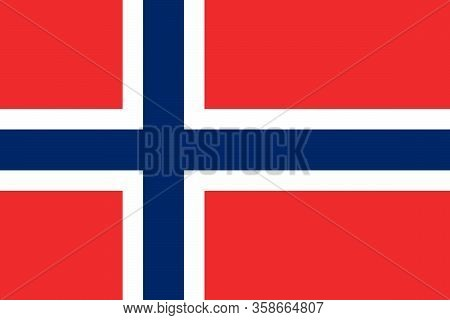Norway National Flag. Perfect For Business Concepts, Backgrounds, Backdrop, Poster, Sticker, Banner,