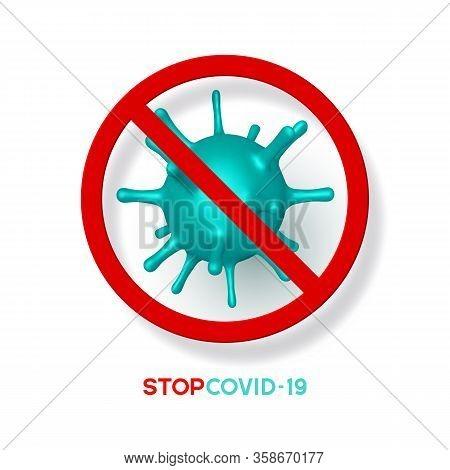 Stop Coronavirus, Virus Strain Of Mers-cov And Novel Coronavirus 2019-ncov, Covid-19. Vector Concept