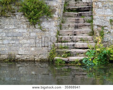 Stone Stairway by the River