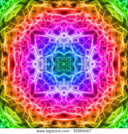 Colorful Fractal Mosaic Background