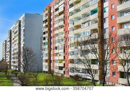 Communist Settlement, Blocks Of Flats In Elblag, Poland