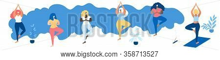 Stop Corona Virus Poster. Social Distance Banner. Stop Corona Virus. A Group Of Multinational Women