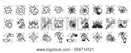 Healthcare And Medicine Line Icons Set. Medical Symbols. Coronavirus Prevention. Coronavirus Icon Se