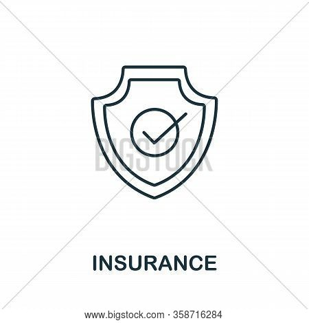 Insurance Icon From Insurance Collection. Simple Line Insurance Icon For Templates, Web Design And I
