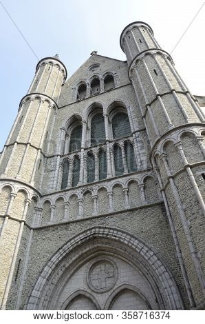 Church Of Our Lady In Brugge In The Historic Center Of Brugge, West Flanders, Belgium.