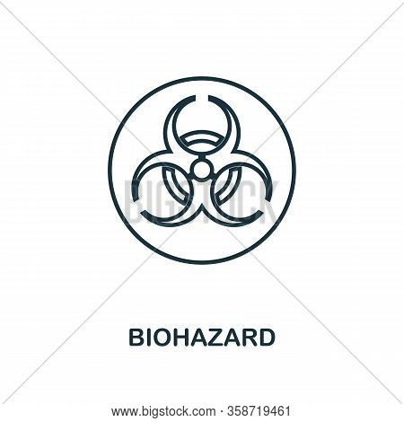 Biohazard Icon. Line Style Element From Hygiene Collection. Thin Biohazard Icon For Web Design And I