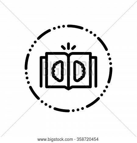 Black Line Icon For Philosophy Book Mind Philosopher Metaphysician Knowledge Intelligence Science In