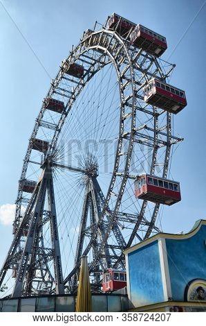 Vienna, Austria-12th Of September 2019: Wiener Prater In The Amusement Park