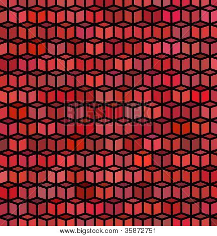 abstract cube pattern red purple surface backdrop poster