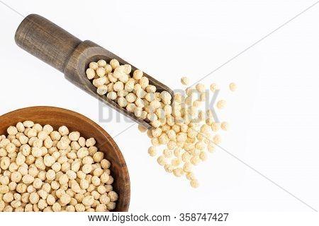 Organic Quinoa Pop - Chenopodium Quinoa. White Background
