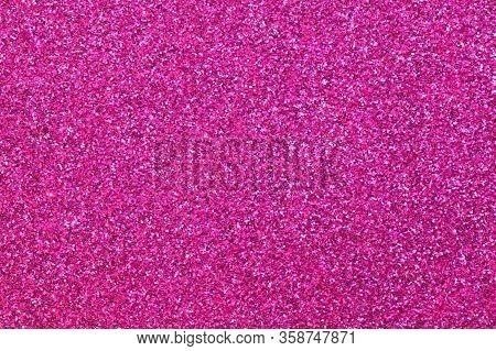 Many Glitter On The Glittery Magenta Fuchsia Background Ideal As A Backdrop