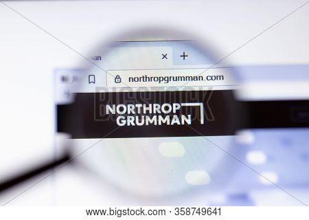 Saint Petersburg, Russia - 29 March 2020: Northrop Grumman Business Company Logo Visible On Screen.