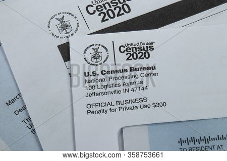 Census 2020 Form. The Census Is The Procedure Of Systematically Acquiring And Recording Information