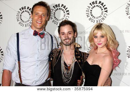 BEVERLY HILLS - AUG 13:  Sean Hemeon, Brad Bell, Alessandra Torresani arrives at the