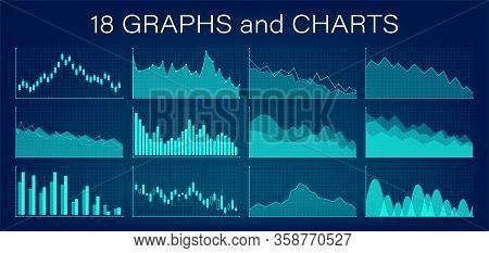 Crisis. Graphs And Charts Templates. Business Infographics. Statistic And Data, Bankruptcy, Financia