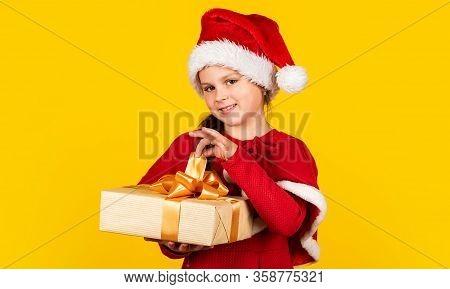 Be Happy. Gift Brings Joy And Happiness. Happy New Year. Merry Christmas. Xmas Joy Mood. Small Santa