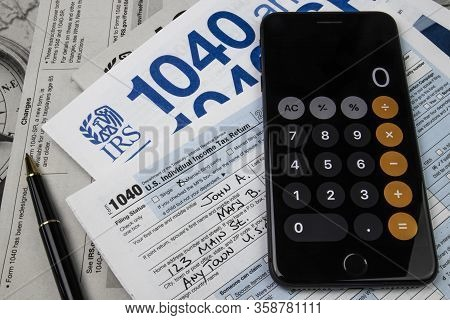 1040 Tax Forms From The Irs. Form 1040 Is Used By U.s. Taxpayers To File An Annual Income Tax Return