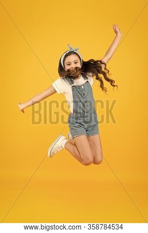 Spirit Of Freedom. Active Girl Feel Freedom. Fun And Relax. Feeling Free. Carefree Kid. Summer Holid