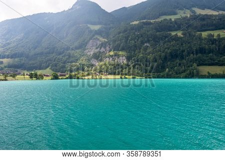 Beautiful Lake Lungern, This Lake Is Popular For Its Turqouise Water