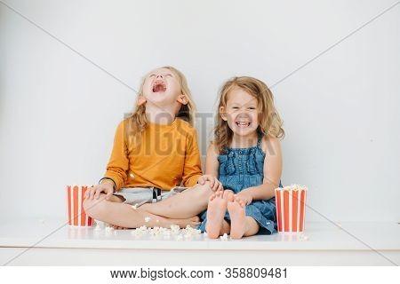 Two Nauty Children Threw Popcorn All Around And Laughing