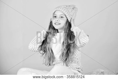 Soft Knitted Accessory. Tips For Caring For Knitted Garments. Child Long Hair Warm Soft Woolen Hat E