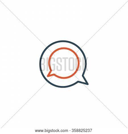 Two Linear Chat Speech Message Bubbles. Hidden Message Concept. Forum Icon. Communication Concept. S